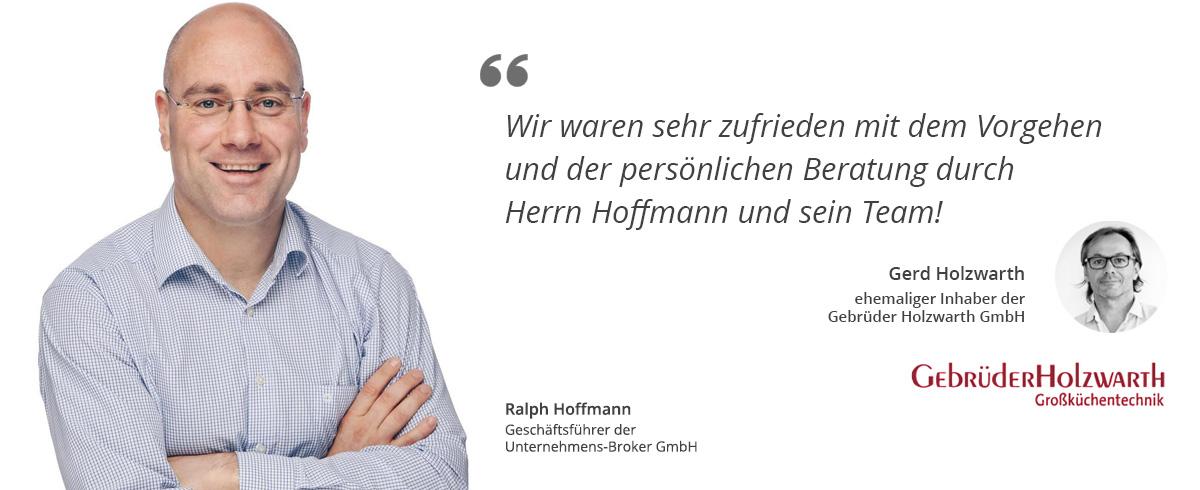 Ralf Hoffmann + Kundenzitat